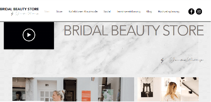 seo projekt bridal beauty store web